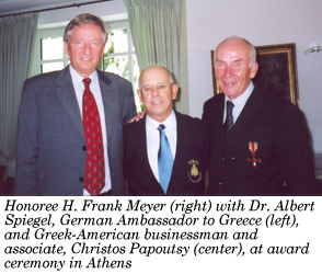 Dr. Spiegel, Chris Papoutsy, and Frank Meyer